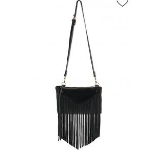 Sancia Black Fringe purse